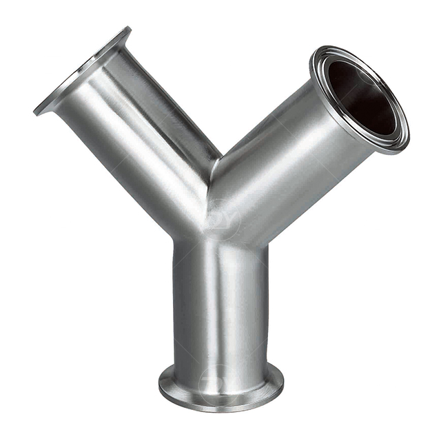 Sanitary Y type SS Tees Pipe Fittings