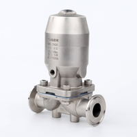 China HIGH QUALITY Stainless Steel Sanitary Clamp Manual Diaphragm Valve Pneumatic