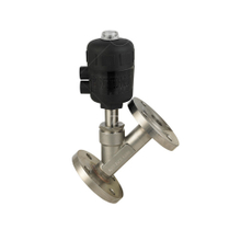 Sanitary Flanged Plastic Air actuated Angle Seat Valve