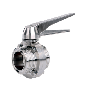 Sanitary Stainless Steel Union End Butterfly Valve