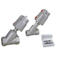 Sanitary Angle Seat Valve with SS Pneumatic Actuator