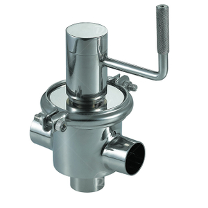 Sanitary Stainless Steel Manual 3 Way Cut-off Valve